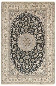 Nain 9La Matto 158X244 Itämainen Käsinsolmittu Vaaleanharmaa/Tummanharmaa (Villa/Silkki, Persia/Iran)