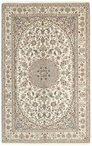 Nain 9La Matto 155X253 Itämainen Käsinsolmittu Vaaleanharmaa/Beige (Villa/Silkki, Persia/Iran)