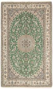 Nain 9La Matto 155X258 Itämainen Käsinsolmittu Vaaleanharmaa/Tummanvihreä (Villa/Silkki, Persia/Iran)