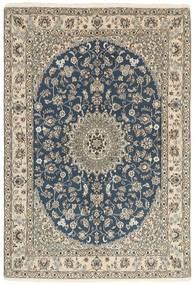 Nain 9La Matto 147X214 Itämainen Käsinsolmittu Vaaleanharmaa/Tummansininen (Villa/Silkki, Persia/Iran)