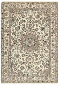 Nain 9La Matto 145X208 Itämainen Käsinsolmittu Vaaleanharmaa/Beige (Villa/Silkki, Persia/Iran)