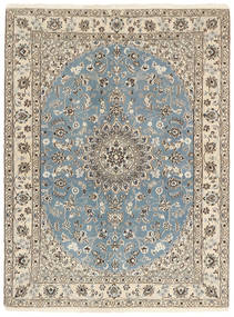 Nain 9La Matto 148X199 Itämainen Käsinsolmittu Vaaleanharmaa/Beige (Villa/Silkki, Persia/Iran)