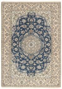 Nain 9La Matto 145X209 Itämainen Käsinsolmittu Vaaleanharmaa/Tummanharmaa/Beige (Villa/Silkki, Persia/Iran)