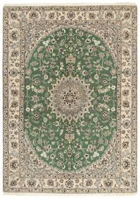 Nain 9La Matto 149X207 Itämainen Käsinsolmittu Oliivinvihreä/Vaaleanharmaa/Beige (Villa/Silkki, Persia/Iran)