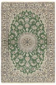 Nain 9La Matto 118X177 Itämainen Käsinsolmittu Oliivinvihreä/Beige (Villa/Silkki, Persia/Iran)