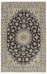 Nain 9La Matto 116X184 Itämainen Käsinsolmittu Vaaleanharmaa/Tummanharmaa (Villa/Silkki, Persia/Iran)