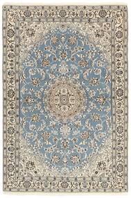 Nain 9La Matto 118X177 Itämainen Käsinsolmittu Vaaleanharmaa/Beige (Villa/Silkki, Persia/Iran)