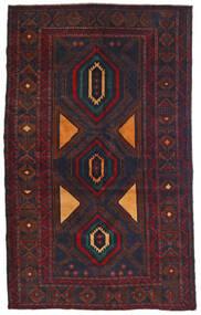 Beluch Matto 115X180 Itämainen Käsinsolmittu Musta/Tummanpunainen (Villa, Afganistan)