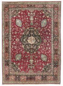 Tabriz 50 Raj Matto 242X325 Itämainen Käsinsolmittu Vaaleanharmaa/Tummanpunainen (Villa, Persia/Iran)