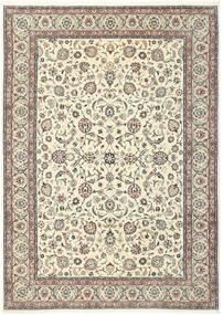 Kashmar Matto 244X344 Itämainen Käsinsolmittu Beige/Vaaleanharmaa (Villa/Silkki, Persia/Iran)