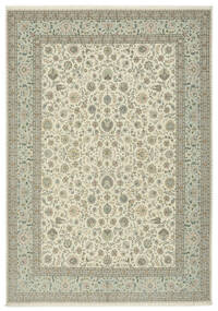 Tabriz 50 Raj Silkillä Matto 250X354 Itämainen Käsinsolmittu Vaaleanruskea/Oliivinvihreä Isot (Villa/Silkki, Persia/Iran)