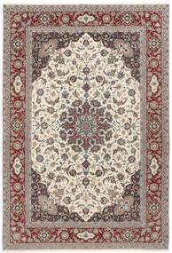 Isfahan Silkkiloimi Matto 250X360 Itämainen Käsinsolmittu Vaaleanharmaa/Beige Isot (Villa/Silkki, Persia/Iran)