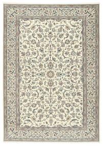 Nain 9La Matto 250X358 Itämainen Käsinsolmittu Vaaleanharmaa/Beige Isot (Villa/Silkki, Persia/Iran)
