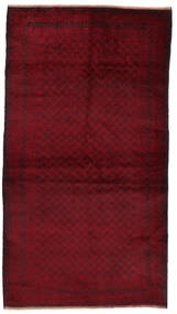 Beluch Matto 106X194 Itämainen Käsinsolmittu Tummanpunainen (Villa, Afganistan)