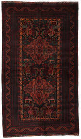 Beluch Matto 116X206 Itämainen Käsinsolmittu Tummanruskea/Tummanpunainen (Villa, Afganistan)
