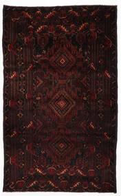 Beluch Matto 105X123 Itämainen Käsinsolmittu Tummanpunainen (Villa, Afganistan)