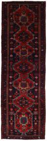 Hamadan Matto 96X300 Itämainen Käsinsolmittu Käytävämatto Tummanpunainen (Villa, Persia/Iran)