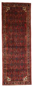 Hamadan Matto 100X282 Itämainen Käsinsolmittu Käytävämatto Tummanpunainen/Tummanruskea (Villa, Persia/Iran)