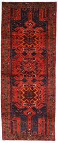 Hamadan Matto 112X289 Itämainen Käsinsolmittu Käytävämatto Tummanpunainen/Tummanruskea (Villa, Persia/Iran)