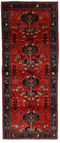 Hamadan Matto 115X300 Itämainen Käsinsolmittu Käytävämatto Tummanpunainen/Tummanruskea (Villa, Persia/Iran)