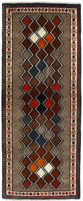 Hamadan Matto 74X185 Itämainen Käsinsolmittu Käytävämatto Musta/Tummanruskea (Villa, Persia/Iran)