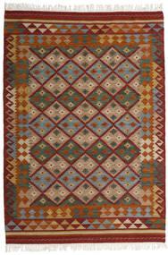 Kelim Adana Matto 160X230 Moderni Käsinkudottu Tummanpunainen/Tummanharmaa (Villa, Intia)
