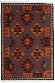 Kelim Isparta Matto 200X300 Moderni Käsinkudottu Tummanpunainen/Musta (Villa, Intia)