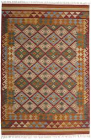 Kelim Adana Matto 200X300 Moderni Käsinkudottu Ruskea/Tummanpunainen (Villa, Intia)