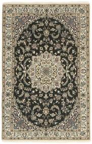 Nain 9La Matto 100X157 Itämainen Käsinsolmittu Tummanharmaa/Vaaleanharmaa (Villa/Silkki, Persia/Iran)