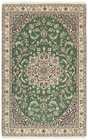 Nain 9La Matto 97X153 Itämainen Käsinsolmittu Vaaleanharmaa/Oliivinvihreä/Beige (Villa/Silkki, Persia/Iran)