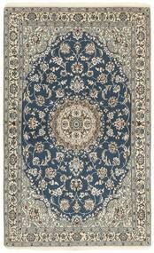 Nain 9La Matto 115X188 Itämainen Käsinsolmittu Tummanharmaa/Vaaleanharmaa (Villa/Silkki, Persia/Iran)