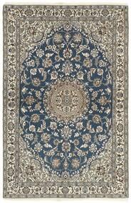 Nain 9La Matto 118X184 Itämainen Käsinsolmittu Tummanharmaa/Vaaleanharmaa (Villa/Silkki, Persia/Iran)