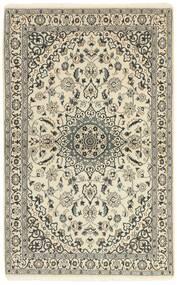 Nain 9La Matto 117X186 Itämainen Käsinsolmittu Beige/Vaaleanharmaa (Villa/Silkki, Persia/Iran)