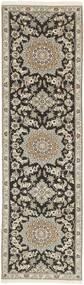 Nain 9La Matto 81X291 Itämainen Käsinsolmittu Käytävämatto Vaaleanharmaa/Tummanharmaa (Villa/Silkki, Persia/Iran)