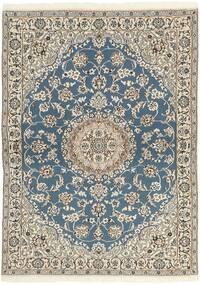 Nain 9La Matto 118X171 Itämainen Käsinsolmittu Vaaleanharmaa/Beige (Villa/Silkki, Persia/Iran)