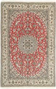 Nain 9La Matto 156X242 Itämainen Käsinsolmittu Vaaleanharmaa/Ruoste (Villa/Silkki, Persia/Iran)