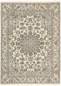 Nain 9La Matto 150X214 Itämainen Käsinsolmittu Vaaleanharmaa/Beige (Villa/Silkki, Persia/Iran)