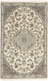 Nain 9La Matto 86X145 Itämainen Käsinsolmittu Vaaleanharmaa/Beige (Villa/Silkki, Persia/Iran)