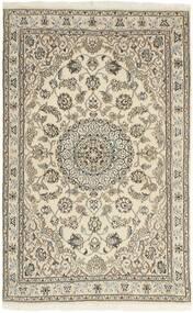 Nain 9La Matto 98X155 Itämainen Käsinsolmittu Vaaleanharmaa/Beige (Villa/Silkki, Persia/Iran)