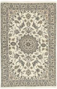 Nain 9La Matto 118X182 Itämainen Käsinsolmittu Vaaleanharmaa/Beige (Villa/Silkki, Persia/Iran)