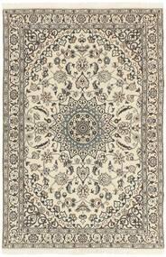 Nain 9La Matto 114X178 Itämainen Käsinsolmittu Vaaleanharmaa/Beige (Villa/Silkki, Persia/Iran)