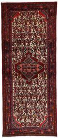Hamadan Matto 72X186 Itämainen Käsinsolmittu Käytävämatto Tummanpunainen (Villa, Persia/Iran)