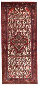 Hamadan Matto 78X185 Itämainen Käsinsolmittu Käytävämatto Tummanpunainen/Tummanruskea (Villa, Persia/Iran)