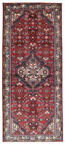 Hamadan Matto 81X188 Itämainen Käsinsolmittu Käytävämatto Tummanpunainen/Tummanruskea (Villa, Persia/Iran)
