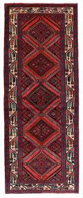 Hamadan Matto 83X214 Itämainen Käsinsolmittu Käytävämatto Tummanpunainen/Tummanruskea (Villa, Persia/Iran)