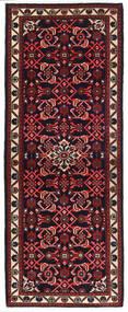 Hosseinabad Matto 76X198 Itämainen Käsinsolmittu Käytävämatto Musta/Tummanpunainen (Villa, Persia/Iran)