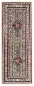 Moud Matto 78X207 Itämainen Käsinsolmittu Käytävämatto Vaaleanharmaa/Tummanruskea (Villa/Silkki, Persia/Iran)