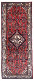 Hamadan Matto 78X190 Itämainen Käsinsolmittu Käytävämatto Tummanvioletti/Vaaleanharmaa (Villa, Persia/Iran)