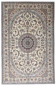 Nain 9La Matto 199X312 Itämainen Käsinsolmittu Vaaleanharmaa/Beige (Villa/Silkki, Persia/Iran)