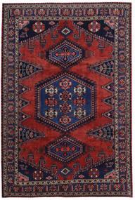 Wiss Matto 214X318 Itämainen Käsinsolmittu Tummanpunainen/Tummanvioletti (Villa, Persia/Iran)